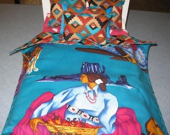 American Girl Inspired Josefina Southwest 5 Piece Bedding Set Reversible With Pillows