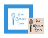 From My Kitchen Personalized Rubber Stamp