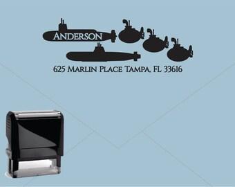 FREE US SHIPPING * Self Inking Return Address Stamp * Custom Address Rubber Stamp (E406)