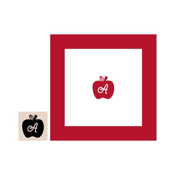 Mini Monogram Apple for your Teacher