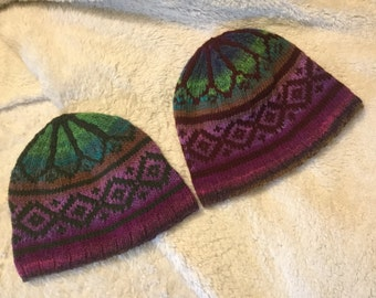 His and Hers Fair Isle caps