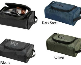 Monogram Toiletry Case Shave Kit Travel Bag For Men Wedding Party Gifts