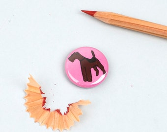 Airedale  /  Welsh Terrier Button Badge