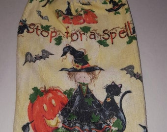 Stop For A Spell Witch Crochet Top Kitchen or Bathroom Towel