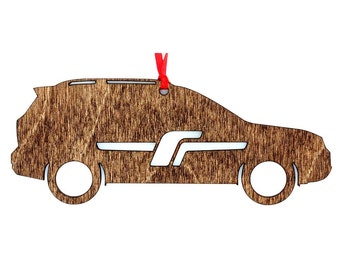 Wooden Subaru Forester Ornament