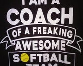Custom listing for 5 softball coach shirts