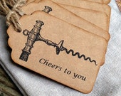 Wine Gift Tags - Gift Tags - Wine Tags - Wine Bottle Tags - Hostess Gift - Housewarming Gift - Bottle Tags - Wine Accessories