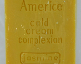 Americe Jasmine Cold Cream Soap 3.5 oz. Single Bar Marshall Fields Vintage 15212