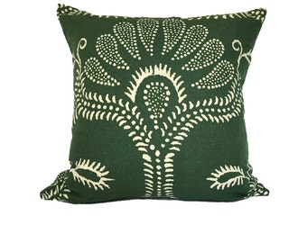 Peter Fasano Green Hillevi Bohemian Designer Accent Pillow 18x18