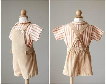 1960s Shorts & Shirt Set >>> Size 18 Months