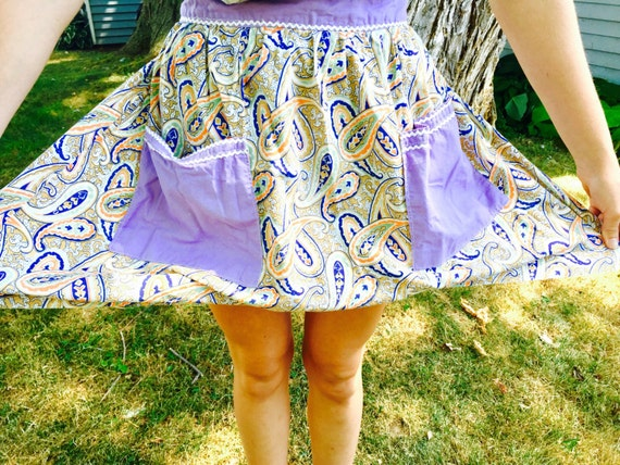 Purple vintage apron from studiovintage on etsy