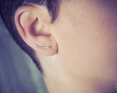 Gold Filled Hammered Ear Climber - Minimalist- Textured- handmade wire jewelry by cristysjewelry on esty