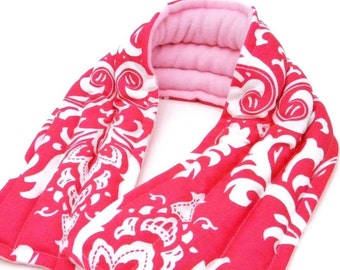 Microwave Neck Wrap Scarf, Wide Heating Pad, Heat Therapy Rice Bag, Unique Gift for Her Mom Sister Friend, Wide Long Heat Pack