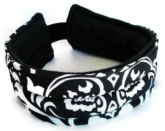 Heating Pad Headband, TMJ, Jaw, Head, Ears, Microwave Heat Pack Wraps as Head band, Migraine Headache Natural Remedy, Rice Head Heat Pack