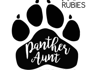 Panther Paw Aunt School Pride Mascot SVG, PNG, JPG digital cut file