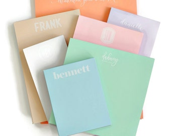 Personalized Pastel Letter Note Pad