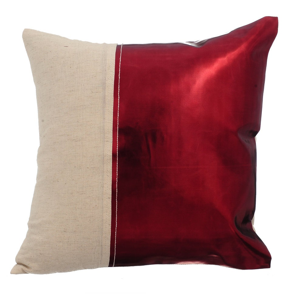 Decorative Throw Pillow Cover Accent Pillow Couch Sofa Leather