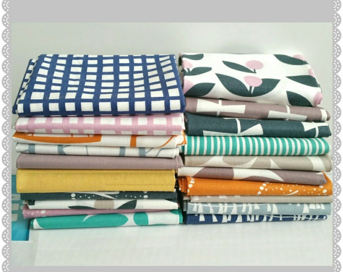 Lotta Jansdotter modern Scandinavian fat quarter fabric bundle // GLIMMA - 20 fat quarters