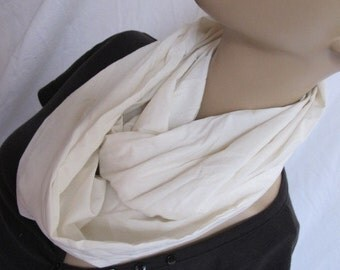 SALE - Cream Cowl/Circle Scarf/Infinity Scarf (5126)