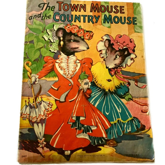 saalfield town mouse country mouse cloth like 1942 pictures. Black Bedroom Furniture Sets. Home Design Ideas