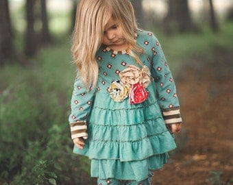 Girl's 2 Piece Boutique Outfit For Fall & Winter Sizes 6-12M, 12-18M, 3T, 4T, 5T