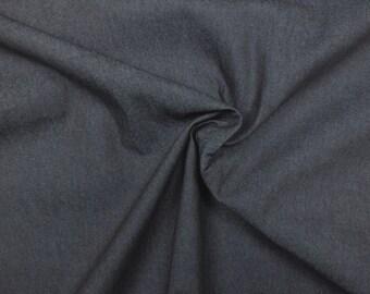 Cotton fabric Ring Denim • dark blue •  transverse elastic •  0.54yd (0.5m) 002543