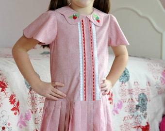 Lucy Dress PDF pattern, sizes 2T through size 10