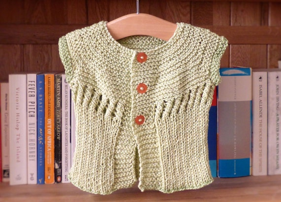 Knitting Pattern For Baby Seamless Yoked Sweater : Knitting Pattern Cardigan Sweater Erin Seamless Summer Top