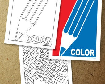 Major League Coloring Coloring Page. Instant download coloring page.