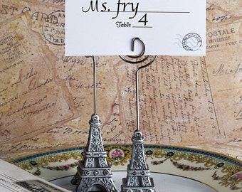 10 Eiffel Tower Place Card Holders Wedding Favors Craft Supply