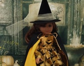 Bats in the Belfry - witch costume for American Girl doll  **RESERVED**