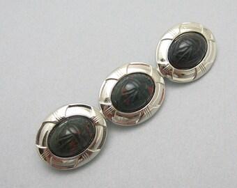 Vintage Scarab Brooch Beetle Jewelry P7134