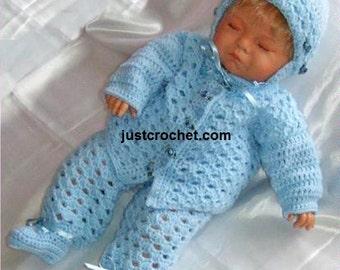 Cardi, helmet and leggings Baby Crochet Pattern (DOWNLOAD) 29