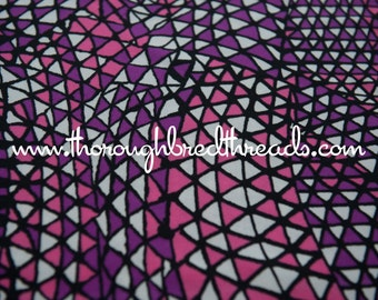 Mod Geometric - New Old Stock Vintage Fabric 60s 70s Abstract Pink Purple