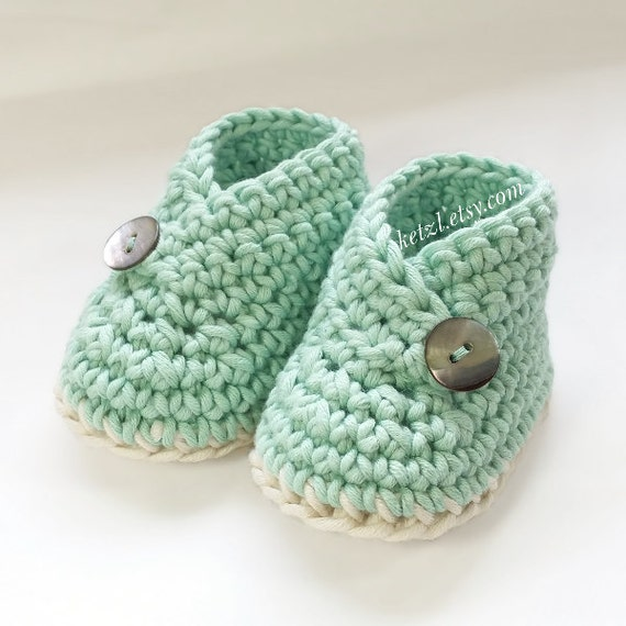 Unisex Baby Booties Free Crochet Pattern : Crochet pattern baby booties shoes unisex boys or girls by ...
