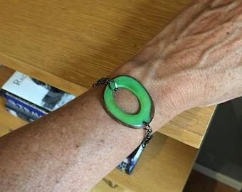 Single pendant wrap bracelet adjustable length