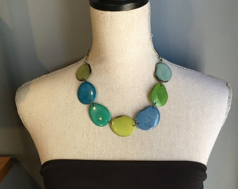 Blues greens necklace