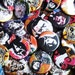 """Assorted 1.25""""  Pin Back Buttons Badges  - Pack of 5 or 10  - Pop art punk rock music art unique art button rock n roll pin back badge"""