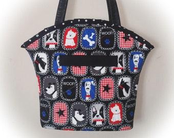 FREE Ship USA Canada - J Castle Boutique Bag - Dogs Dog Best of Show Greta Lynn Designer Fabric - (Quick Ship)