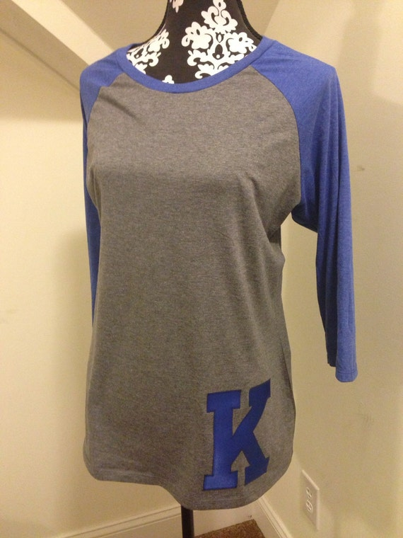 Items Similar To Kentucky Raglan Tee With Small K Applique
