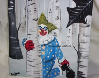 Creepy clowns reported in the woods inspired art