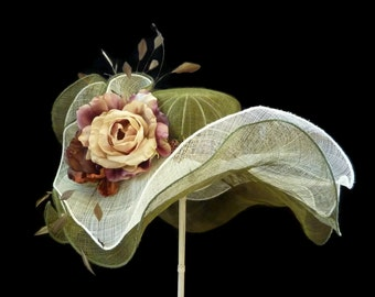 """Women's Kentucky Derby Hat, Easter Hat, Spring Fashion Hat, Will Have Everyone - """"Green With Envy"""""""
