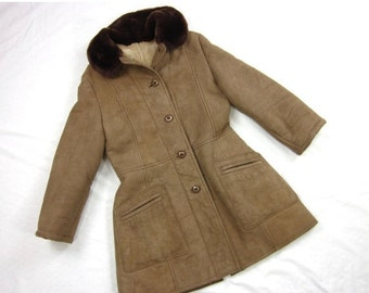 Vintage Shearling Coat, Boho Chic, 1970s, Imported from Argentina
