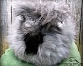 Angora Fiber Black Rabbit Wool Natural English Angora Rabbit Spinning Fiber Fur Hair No Fillers Cruelty Free Black Fur from Doodle 1/4 Oz