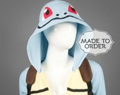 Squirtle Pokemon Costume Hoodie with Shell Backpack - Made to Order