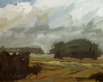 Passing Rehoboth | Original Painting Oil Painting Landscape Painting | 5 x 7