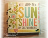 You Are My Sunshine Mini Scrapbook - 14 decorated pages