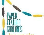 Feather Garland, Tribal Baby Shower, Bohemian Wedding