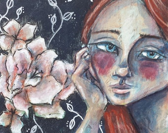 Since We Last Spoke Original mixed media painting
