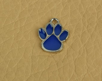 Puppy Paw Charm, 16mm  x 14mm wide, ring on top sold package of 6 each 05002CS